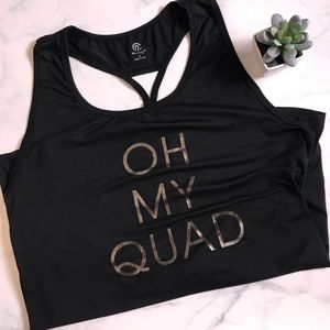 Oh my quad workout top size medium Champion